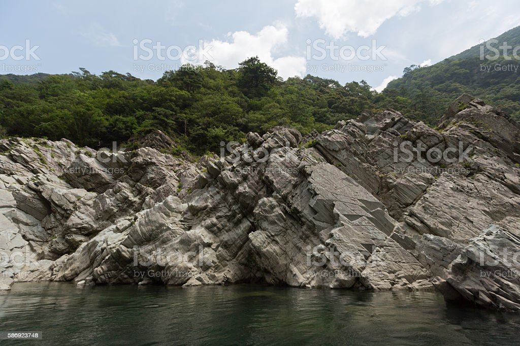 Oboke Gorge in Tokushima Prefecture, Shikoku, Japan stock photo