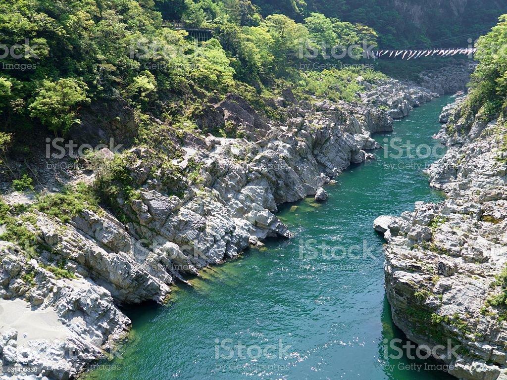 Oboke Gorge stock photo