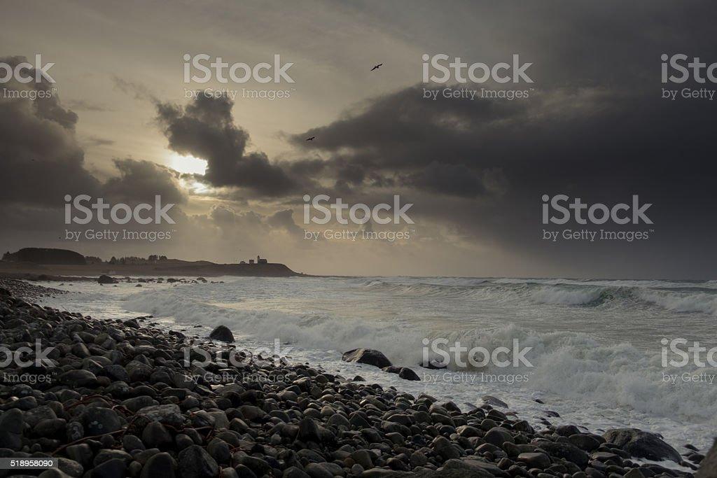 Obrestad lighthouse stock photo
