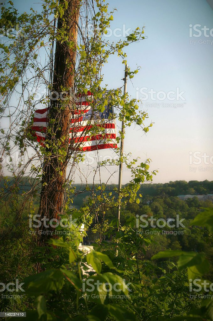 Obscured American Flag stock photo