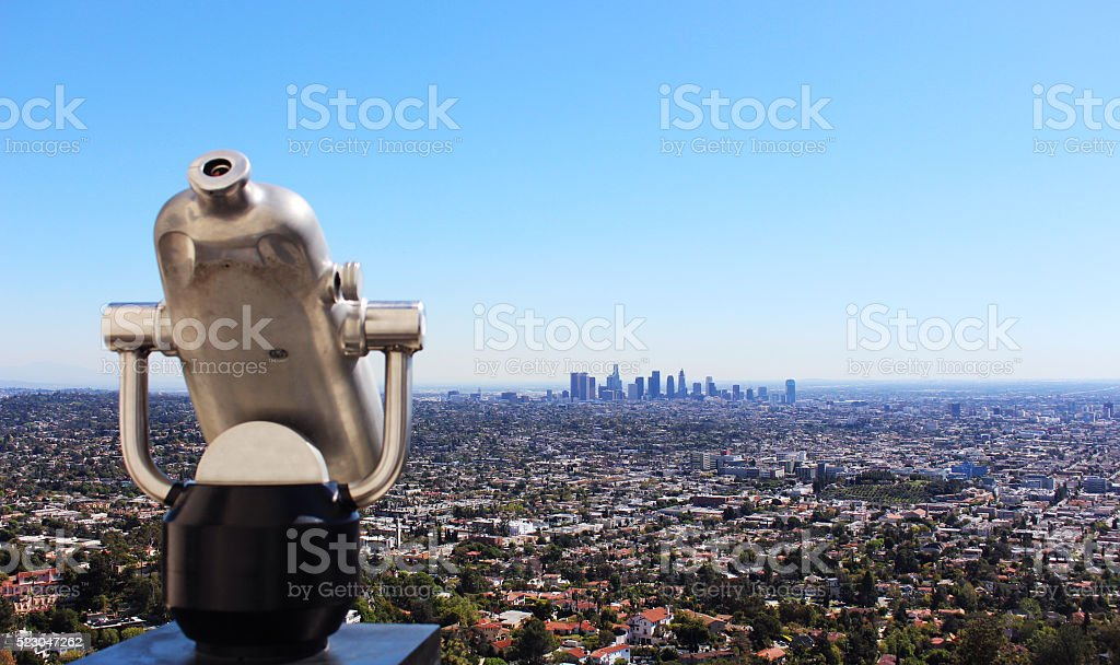 Observation Binoculars, Los Angeles stock photo