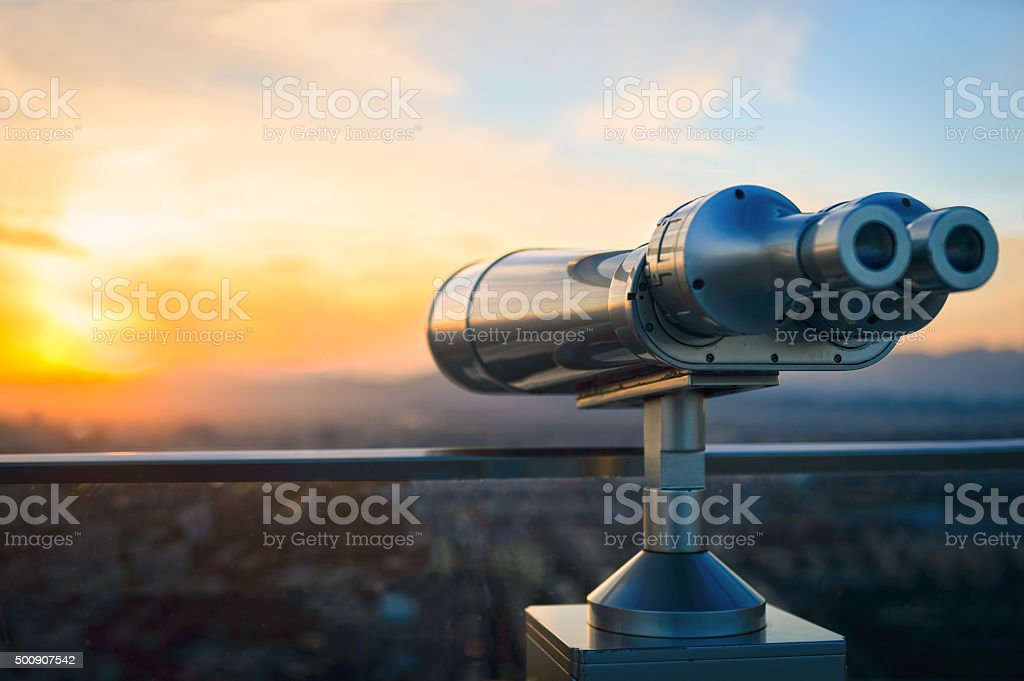 Observation Binoculars stock photo