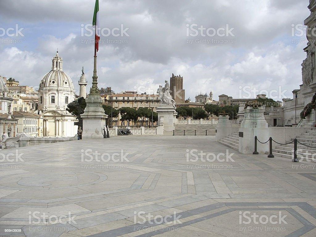 observation deck with Santa Maria de Loreto royalty-free stock photo