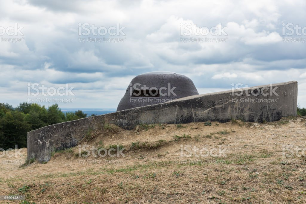 Observation post at Fort Douaumont near Verdun. Battlefield of WW1 stock photo