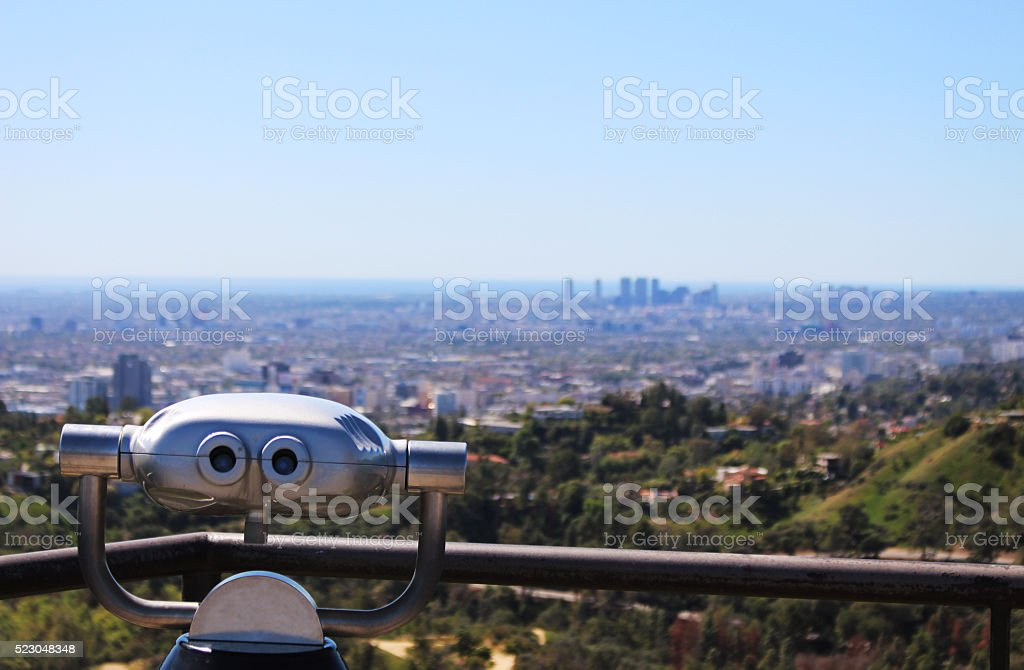 Observation Telescope, Los Angeles stock photo