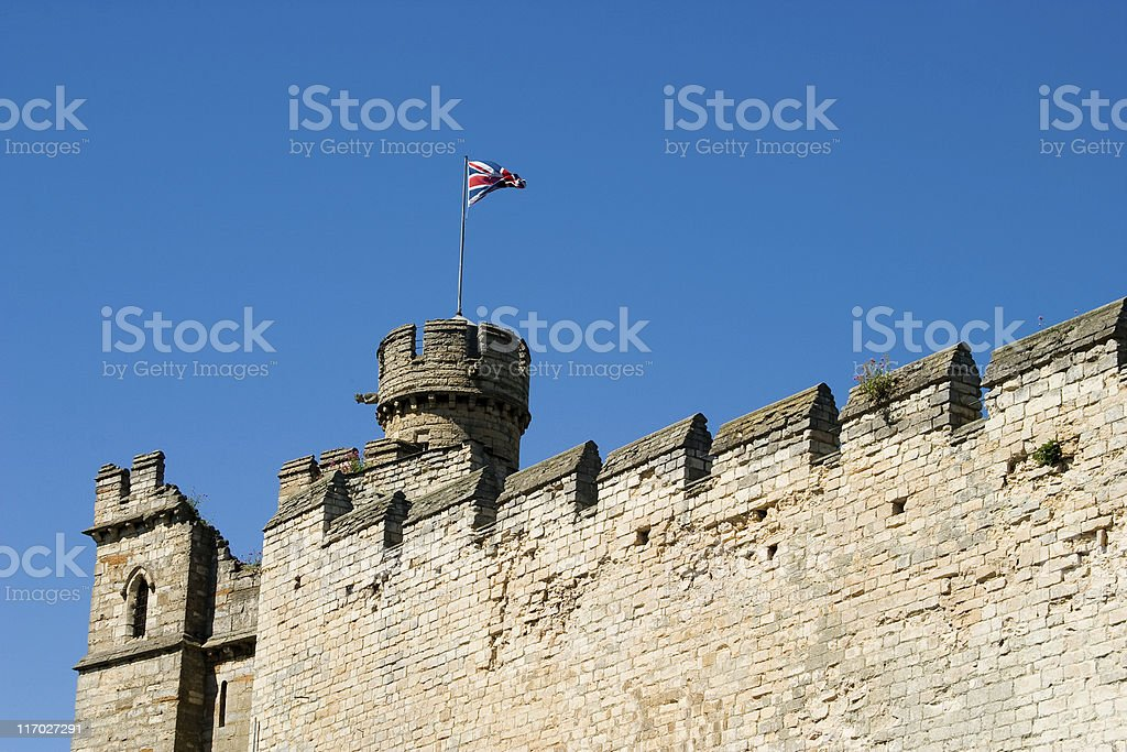 Observation tower at Lincoln Castle stock photo