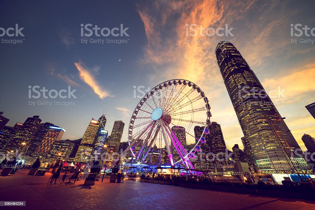 Observation Wheel, Hong Kong stock photo