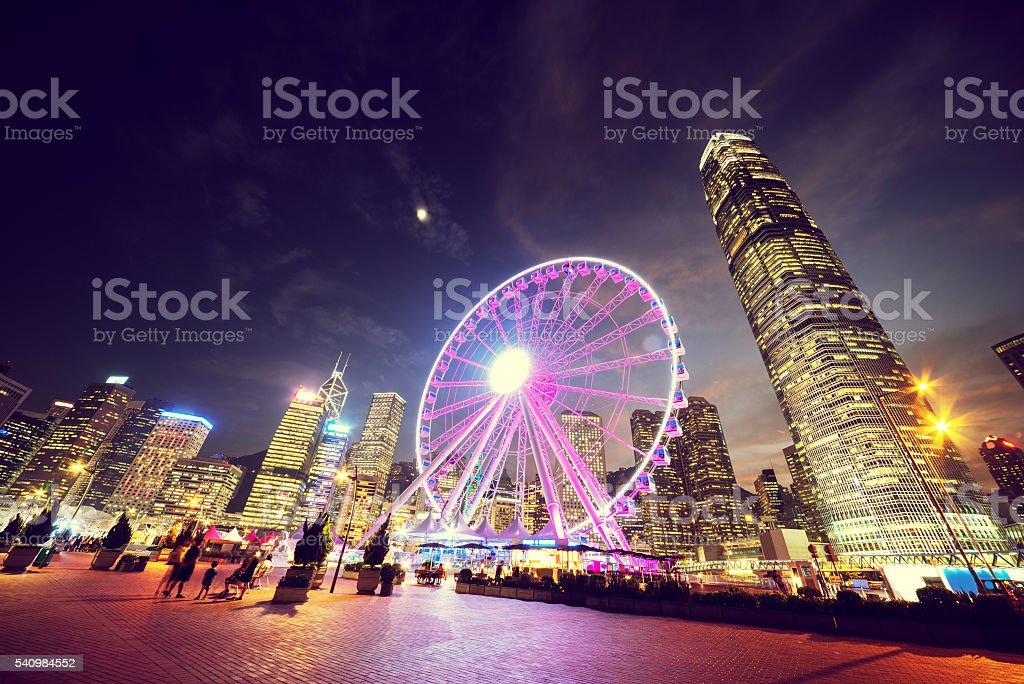 Observation Wheel, Hong Kong stock photo