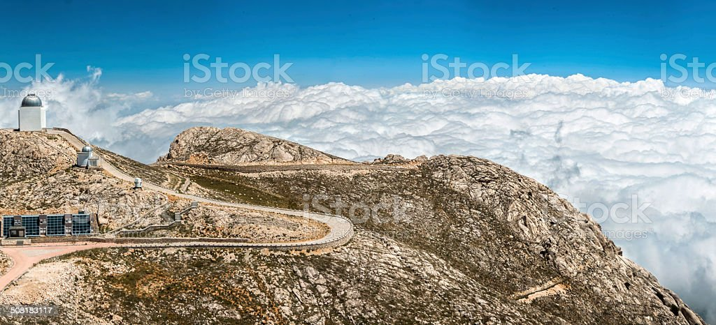 Observatory above the clouds royalty-free stock photo