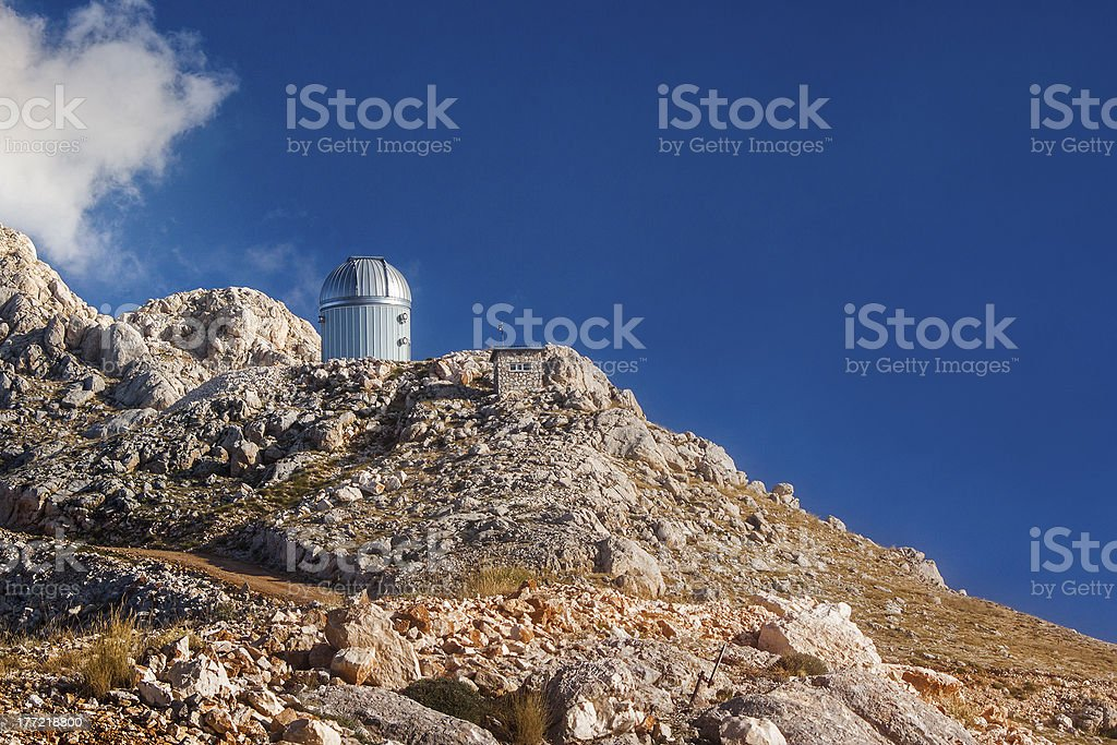 Observatory agains the Blue royalty-free stock photo
