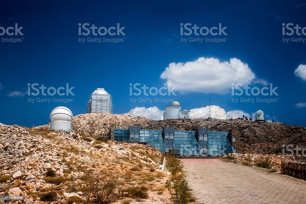 Observatory against the Blue royalty-free stock photo