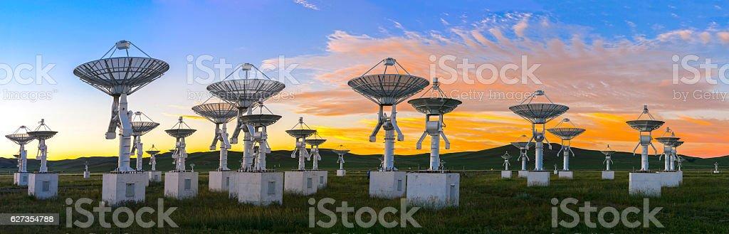 Observatory antenna stock photo