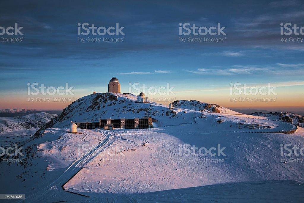 Observatory at sunrise royalty-free stock photo