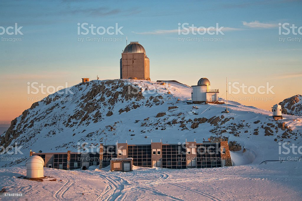 Observatory at sunrise royalty-free stock photo