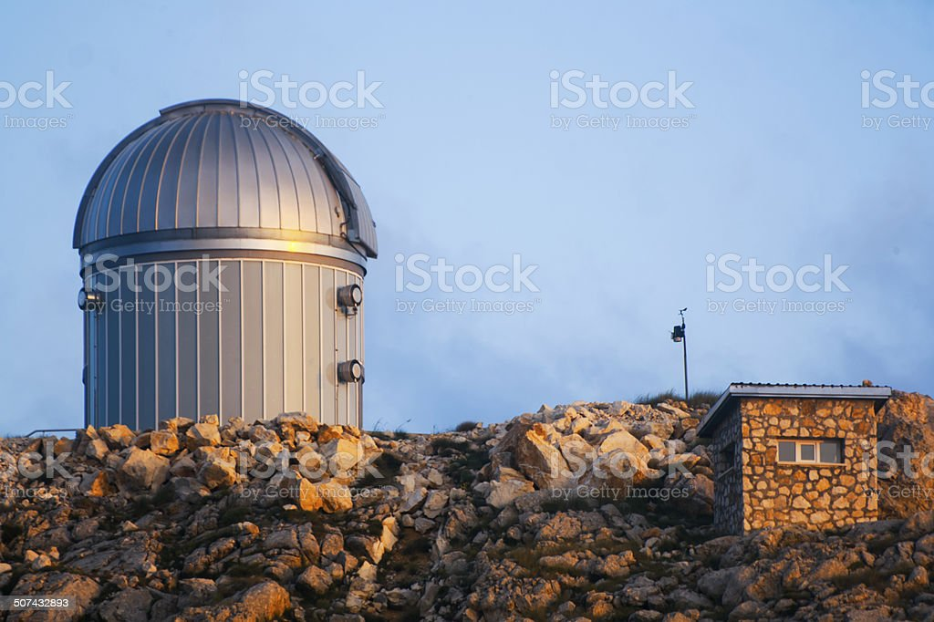 Observatory at sunset royalty-free stock photo