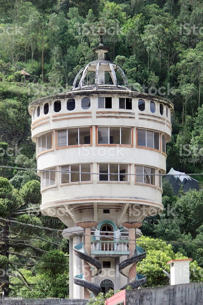 Observatory Baños, Ecuador stock photo