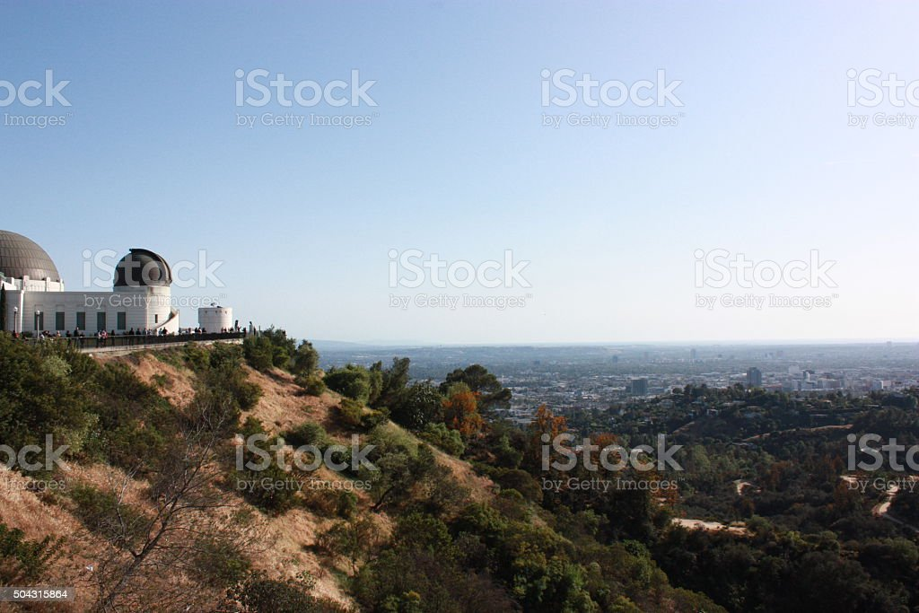 Observatory Los Angeles in Griffith Park, USA stock photo