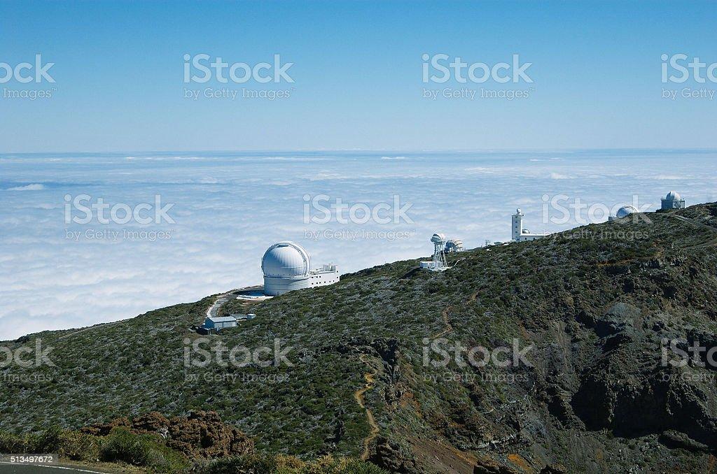 Observatory of 'Roque de Los Muchachos' stock photo