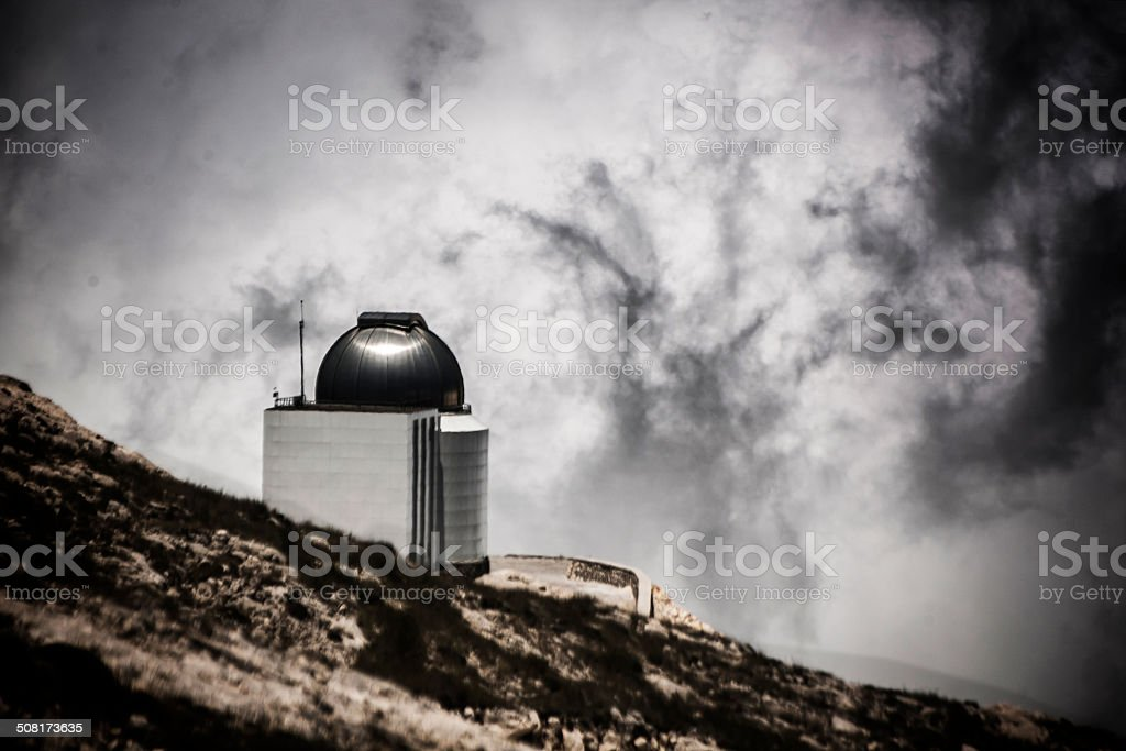 Observatory over the clouds royalty-free stock photo