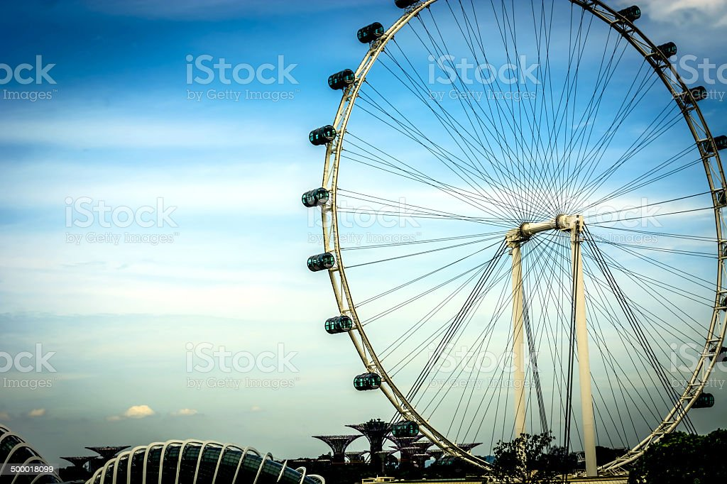 Observatory wheels stock photo