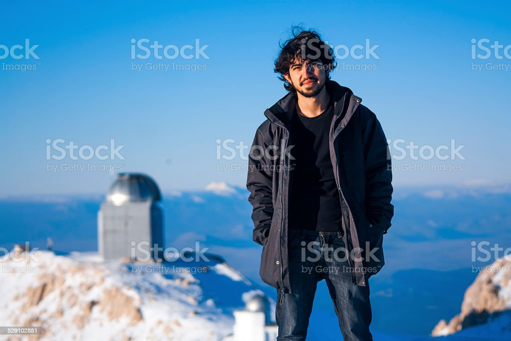 Observer at the top royalty-free stock photo