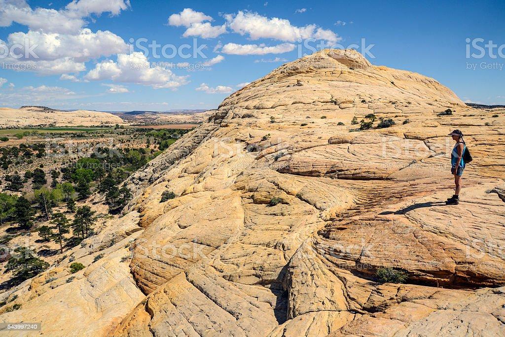 Observing Boulder, Utah stock photo