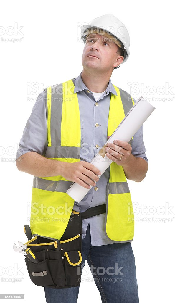 Observing construction worker royalty-free stock photo