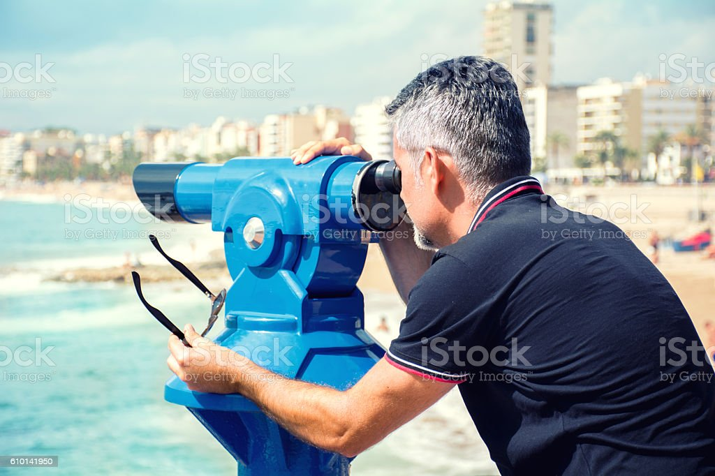 Observing landscape stock photo