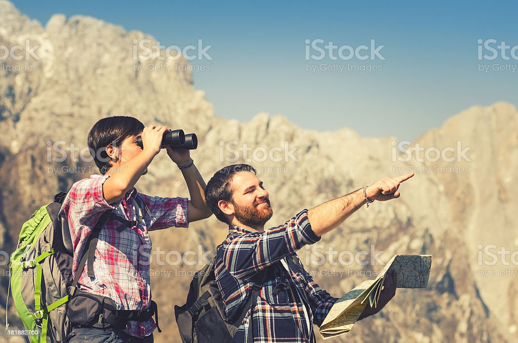 observing on the mountain royalty-free stock photo