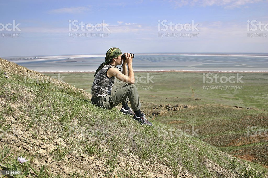 Observing the surroundings royalty-free stock photo