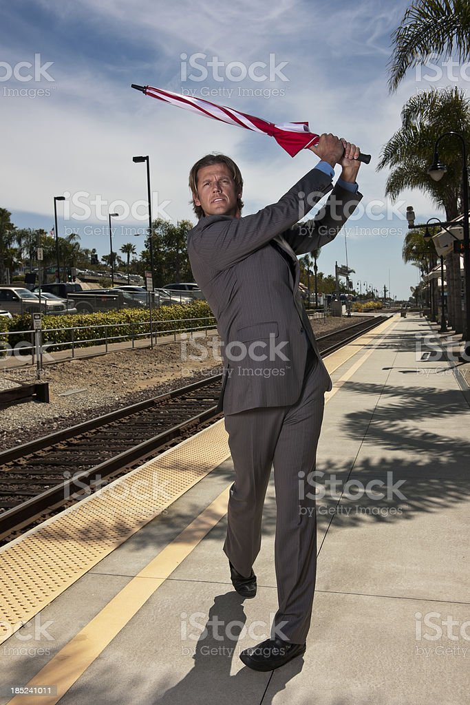 Obsessed Golfer royalty-free stock photo