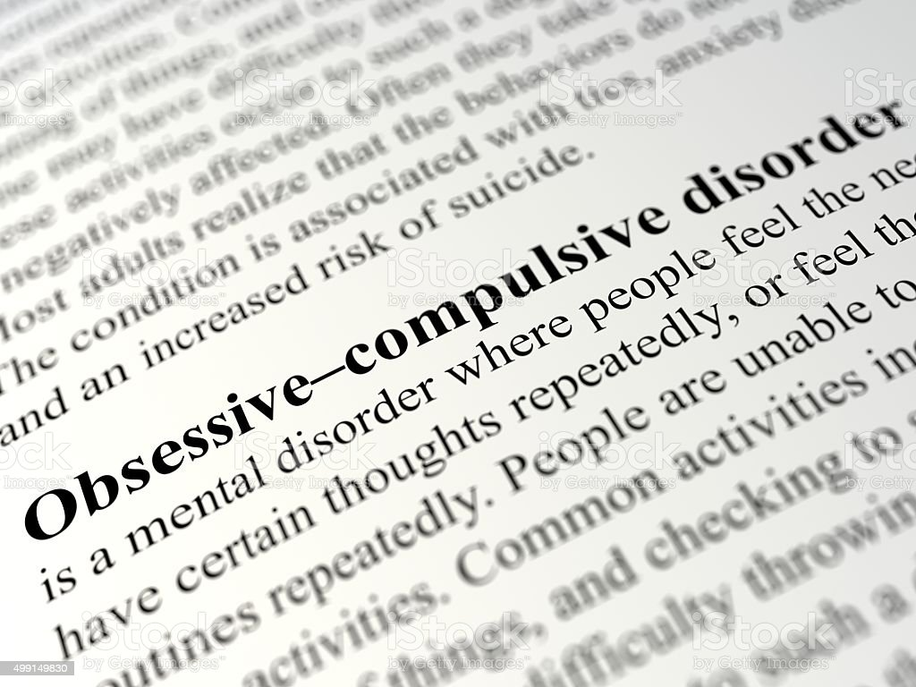 Obsessive–compulsive disorder stock photo