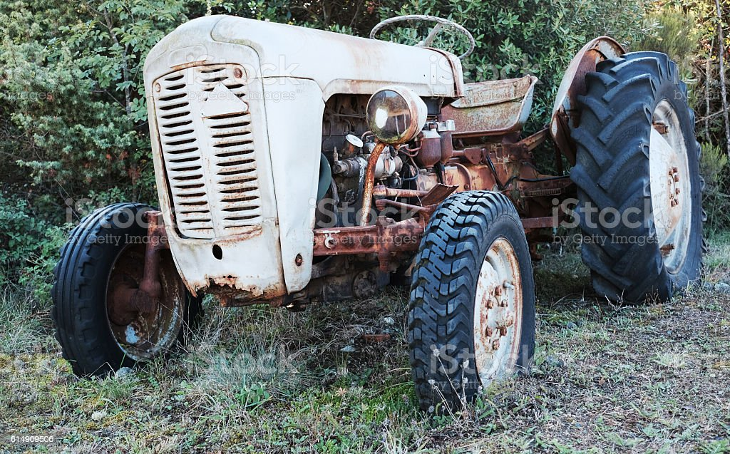 Obsolete and Rusting Tractor stock photo