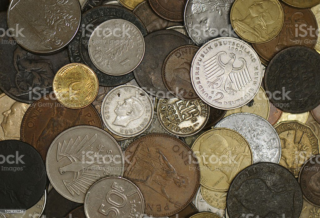 Obsolete Coinage royalty-free stock photo