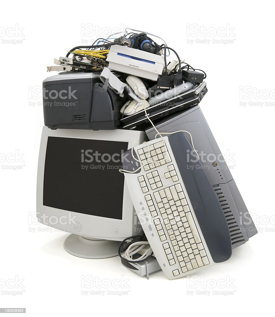 Obsolete Computer Equipment stock photo