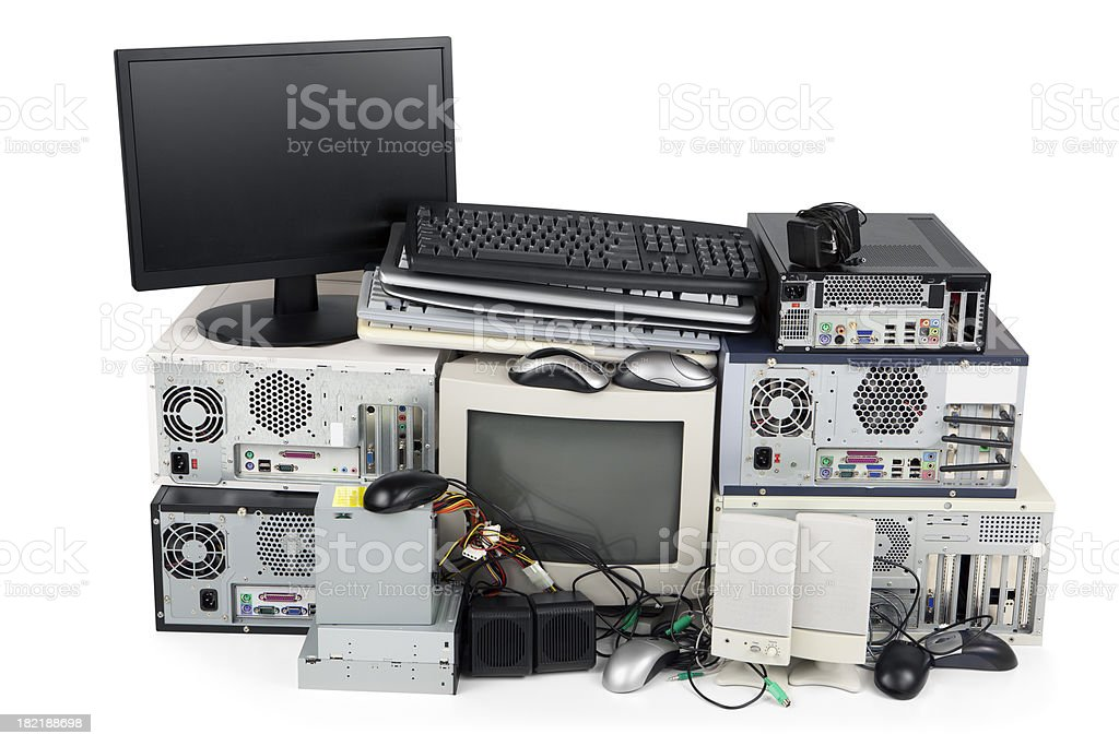 Obsolete Computer Recycling royalty-free stock photo