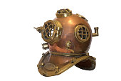 Obsolete diving helmet
