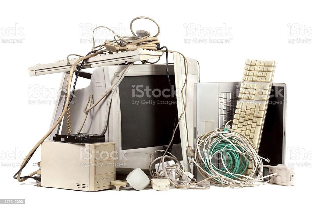 Obsolete electronics stock photo
