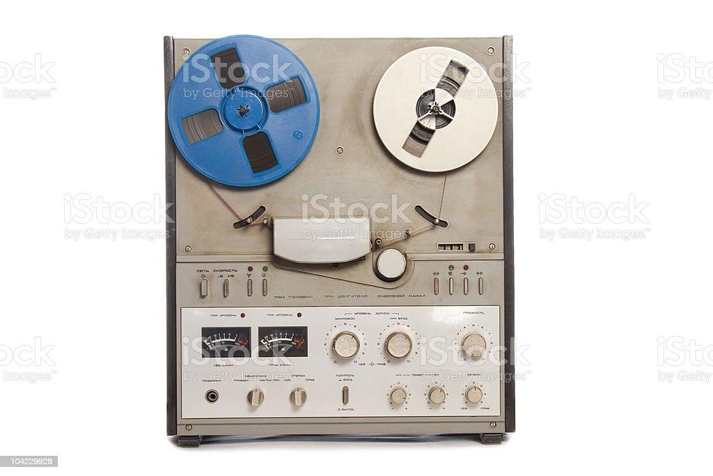 obsolete tape recorder royalty-free stock photo
