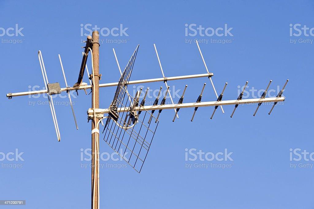 Obsolete television antenna royalty-free stock photo