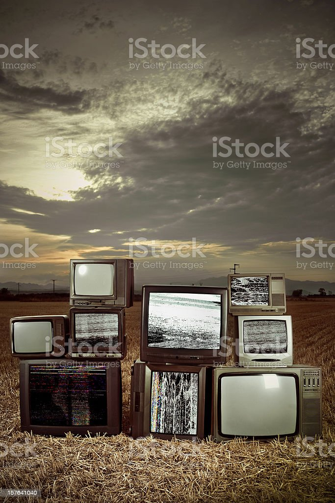 Obsolete Televisions royalty-free stock photo