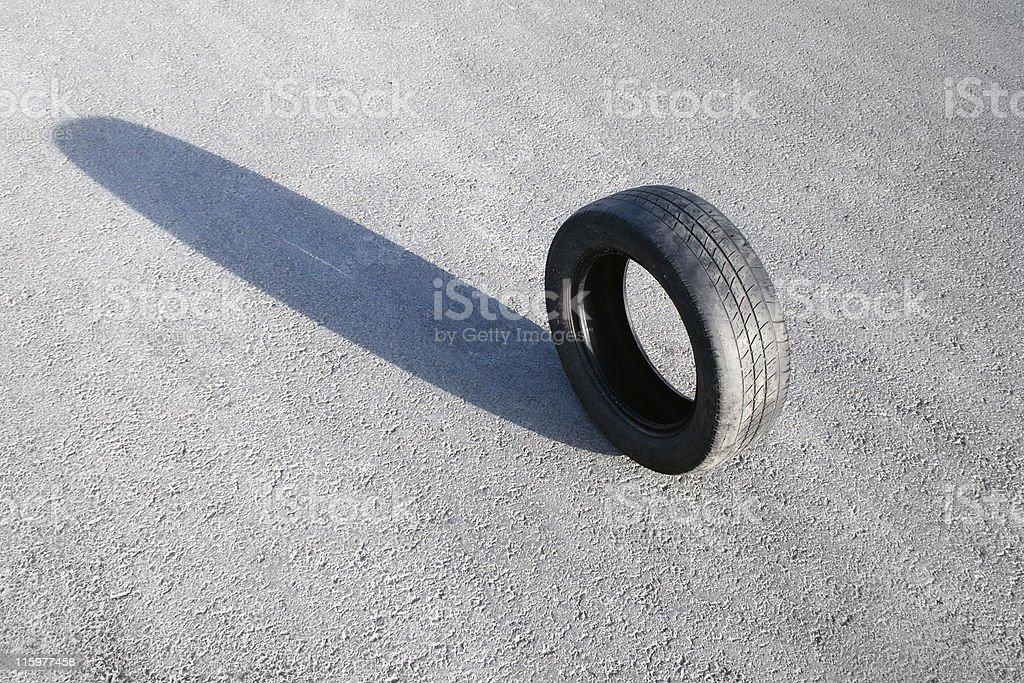 Obsolete tyre royalty-free stock photo