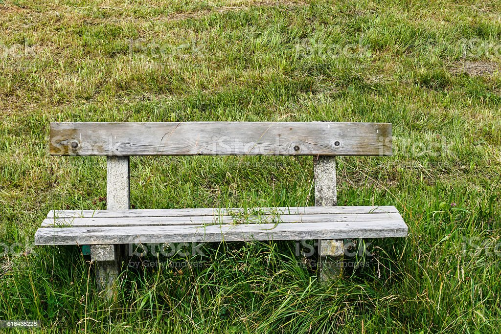 Obstacle bench stock photo