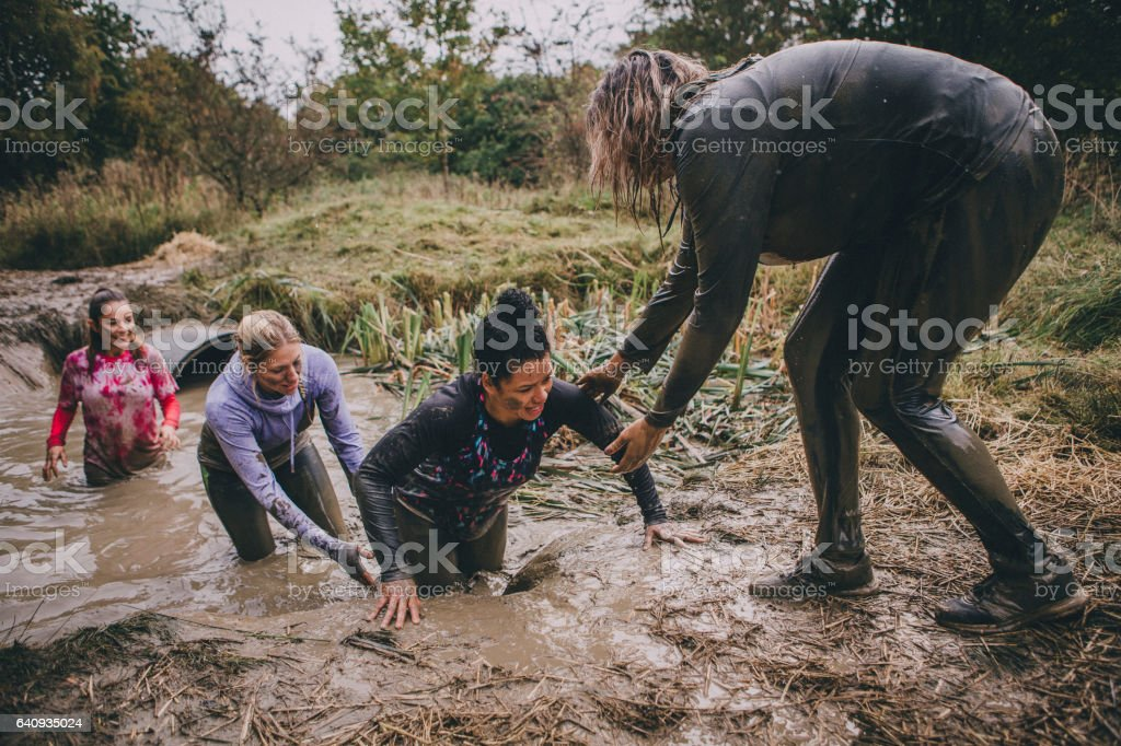 Obstacle Course Support stock photo