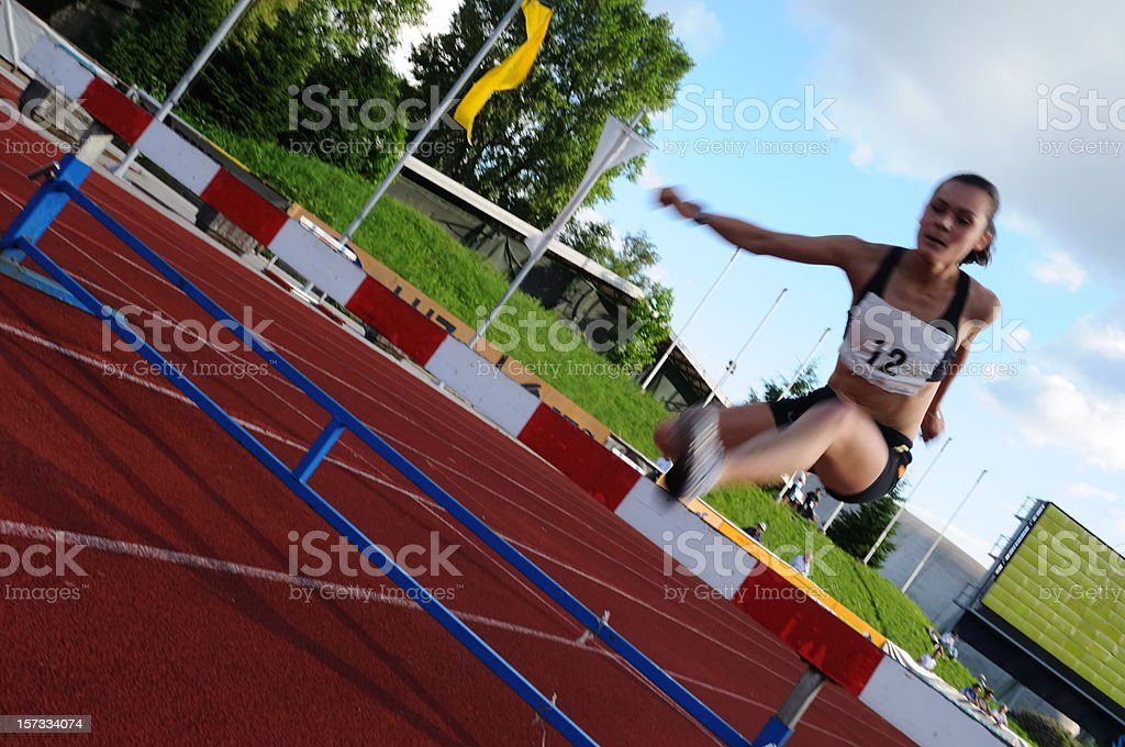 Obstacle race royalty-free stock photo