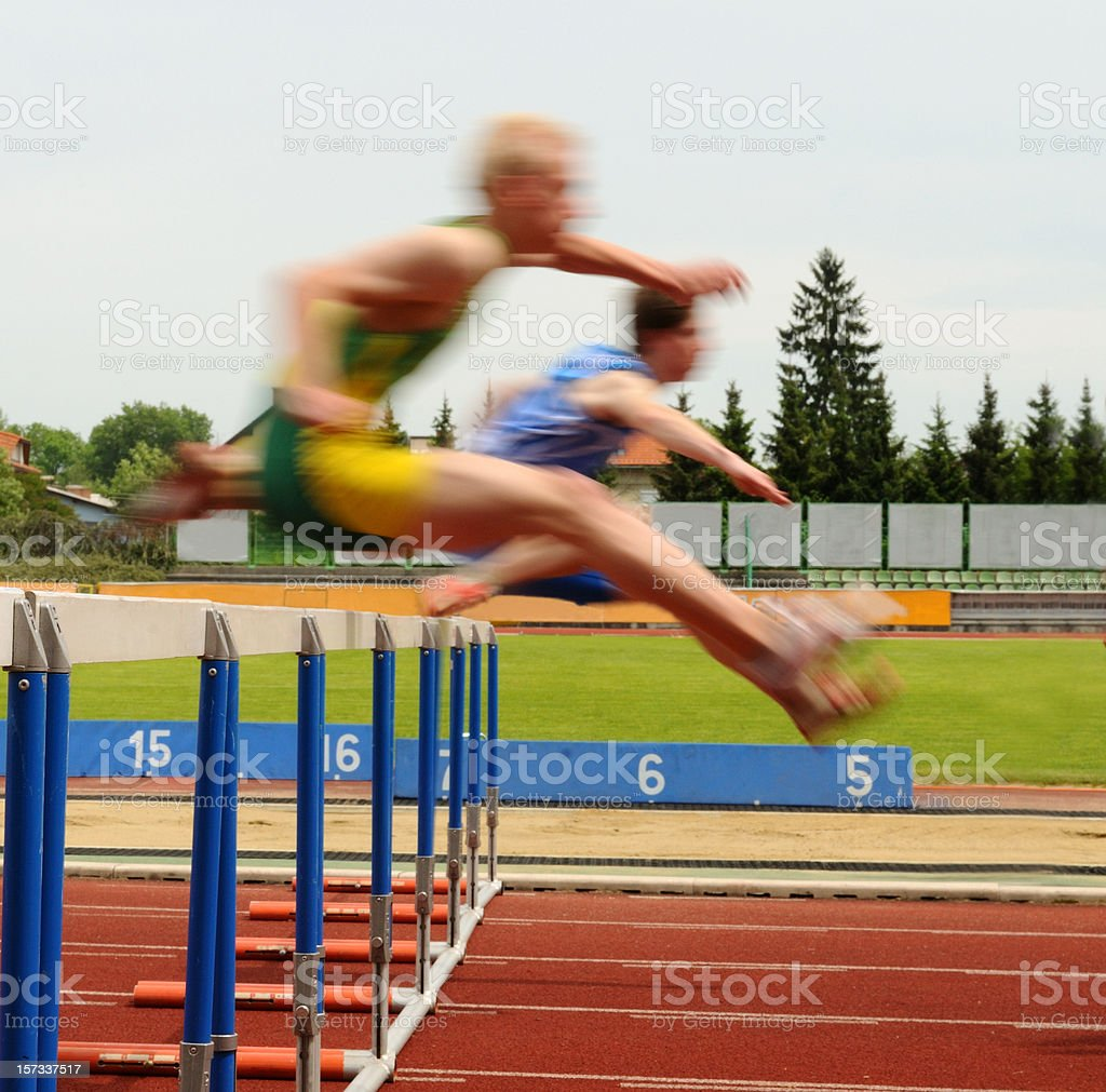 Obstacle race stock photo