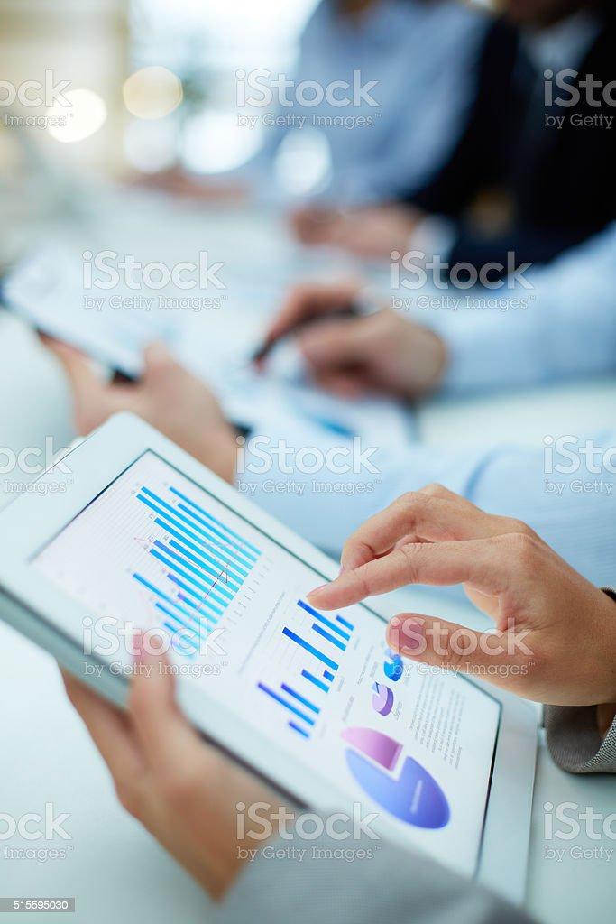 Obtaining statistics stock photo