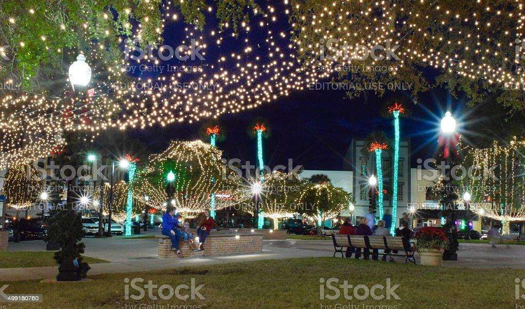 Ocala, Florida - Christmas Lights stock photo