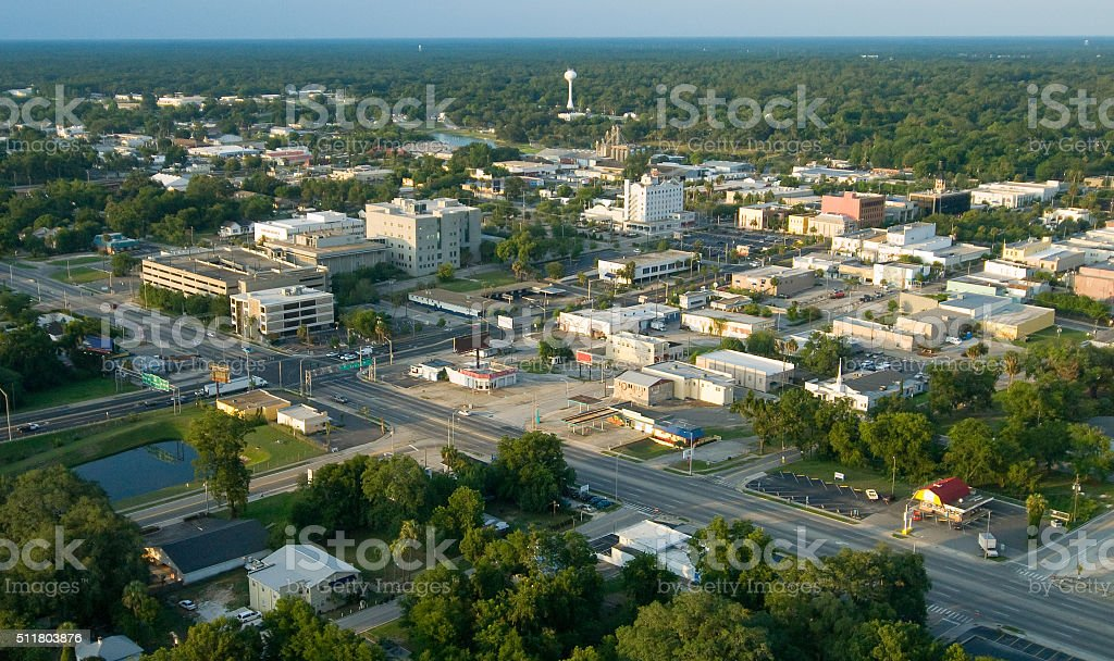 Ocala Florida Downtown - Aerial stock photo
