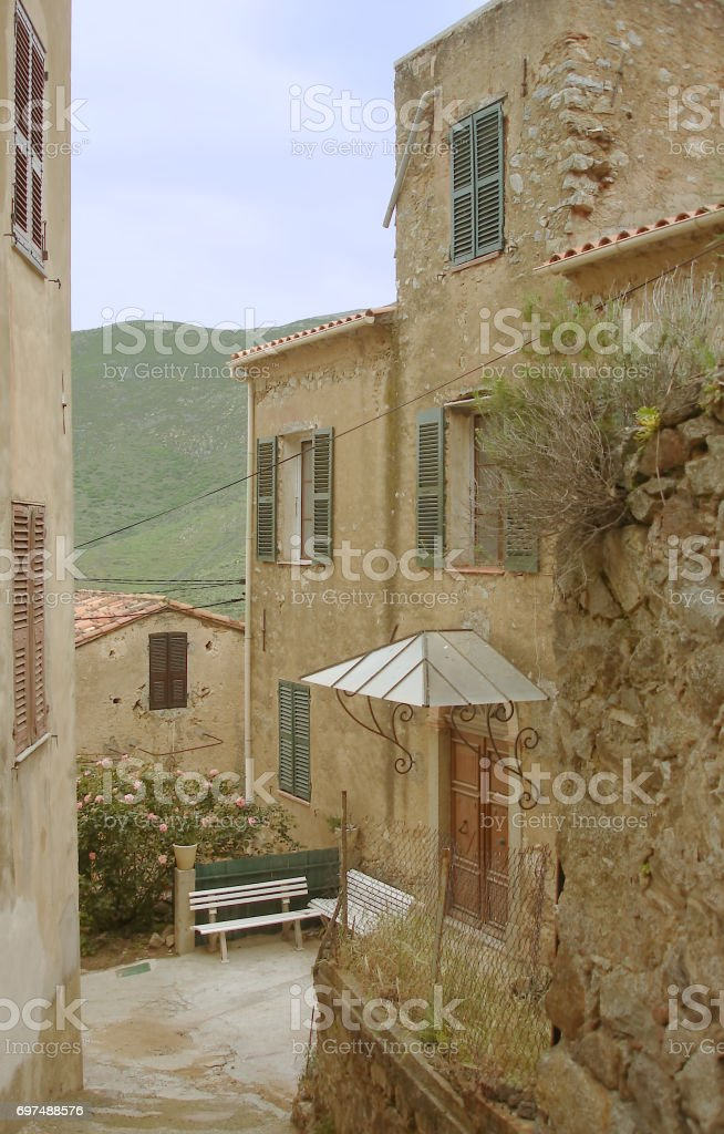 Occiatana alleys stock photo